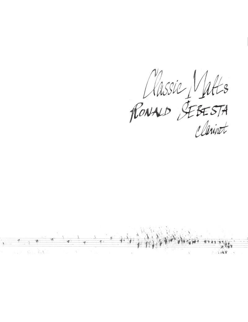 Classic Malts - Ronald Šebesta clarinet €8.70 Music Store